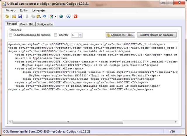 Cómo colorear código para poner en páginas Web – EXCELeINFO