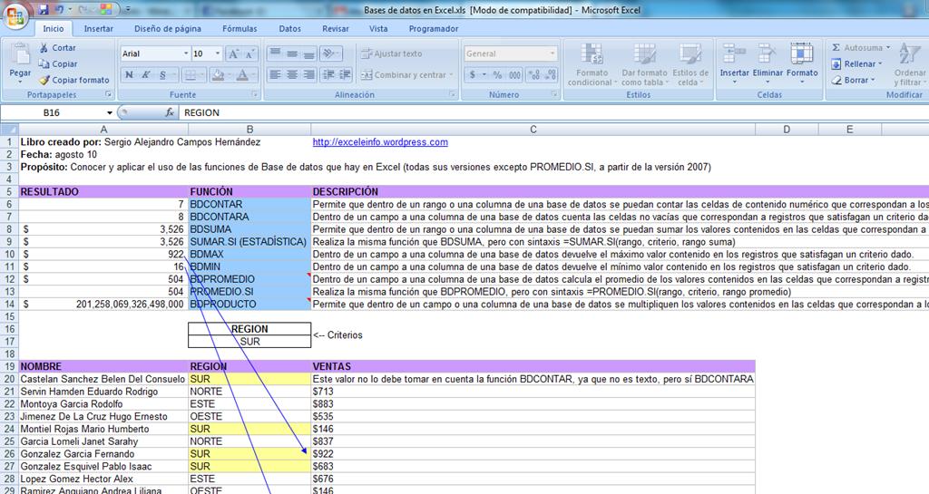 Funciones De Bases De Datos En Excel Exceleinfo