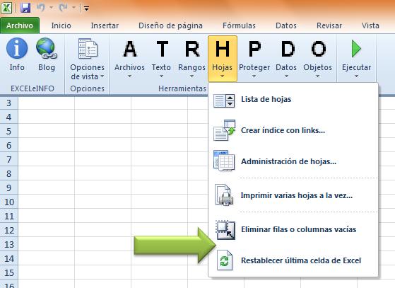 EXCELeINFO 2.3.5 – Eliminar las filas y columnas vacías en Excel ...